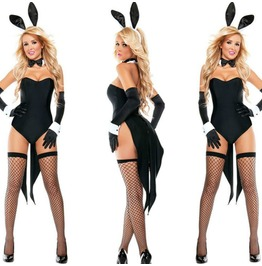 Rabit Set Bodycon Fishnet Lingerie Bunny Womens Costume