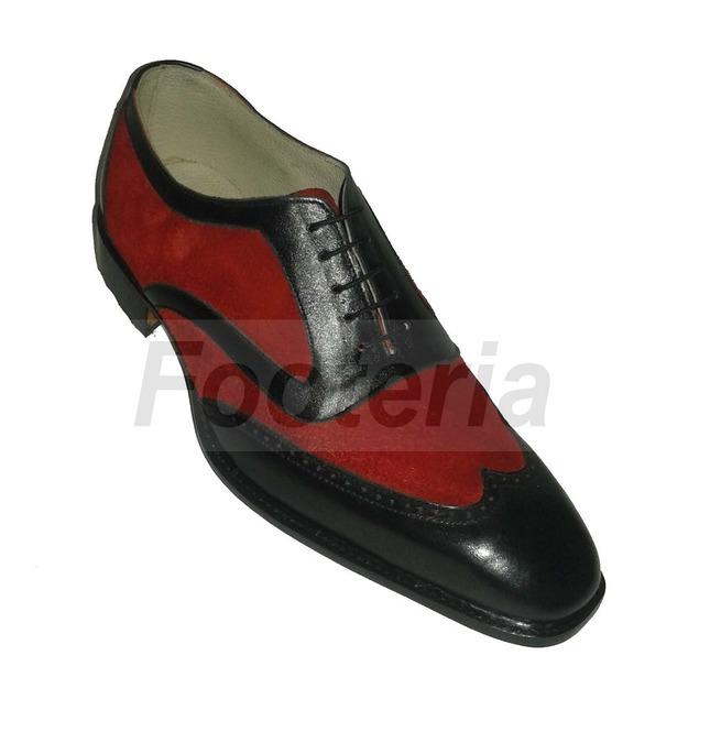 Handmade Men Wingtip Shoes Men Leather Shoes Red And Rebelsmarket