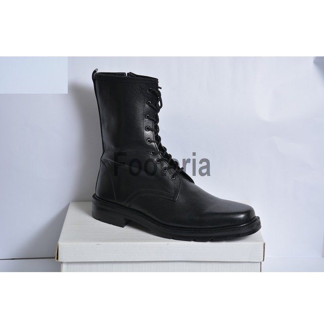 4dea2a077f95 Handmade Black Leather Boots