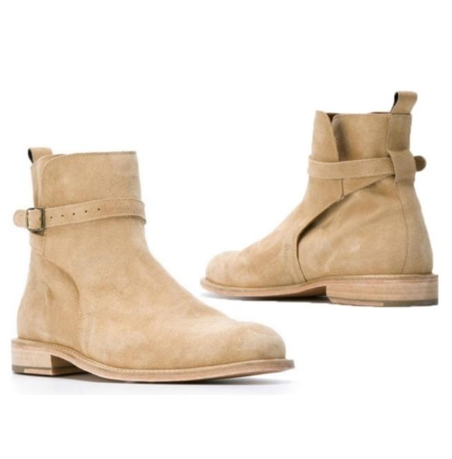 581ba36187c Handmade Beige Suede Leather Boots, Jodhpur Boot For | RebelsMarket