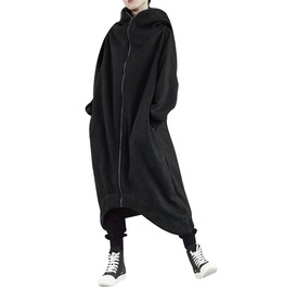 Rebelsmarket loose fit oversized hooded asymmetrical jacket jackets 5