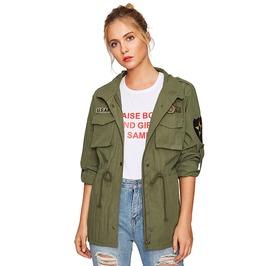Rebelsmarket military patched service jacket jackets 7