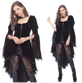 Gothic Noble Velvet Pleated Cocktail Jacket