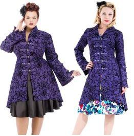 Purple Hearts Brocade Jacket