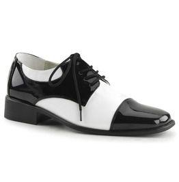 """1"""" Heel, Men's Disco Shoes, Wing Tip"""