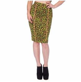 Double Zipper Pencil Skirt