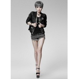 Punk Style Black Short Jacket Coat