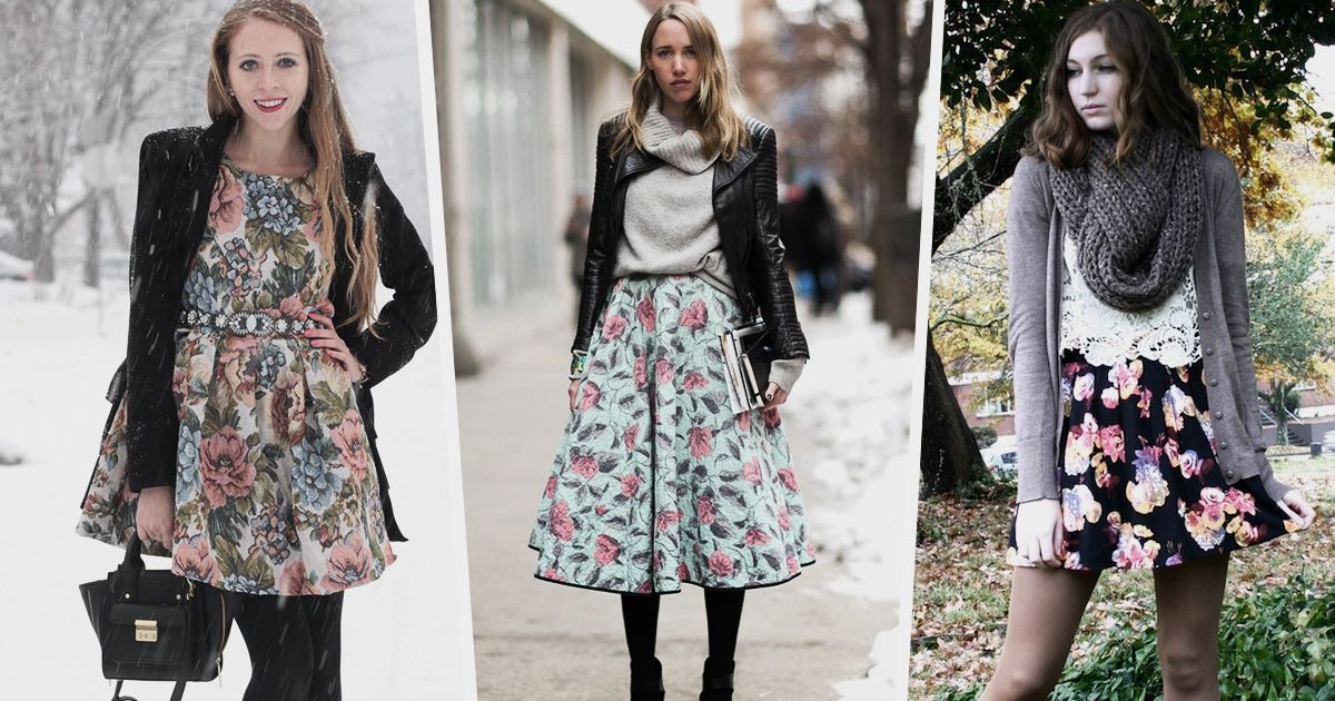 Year round fashion trend how to wear cute floral dresses in winter