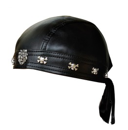 Rock Biker Motorcycle Lion Skull Imitation Leather Hat Mens Accessories
