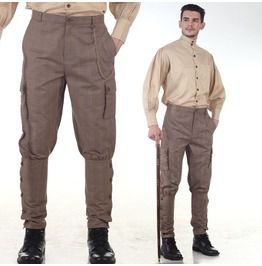 Pirate dressing checkered jodhpuri steampunk pants pants