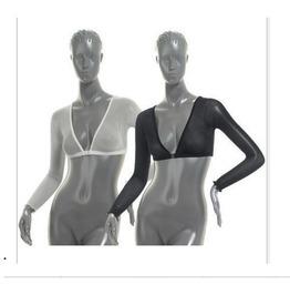Sheer Mesh Long Sleeve Crop Top Womens Top