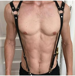 Gothic Punk Buckle Unisex Body Harness Womens Mens Accessories