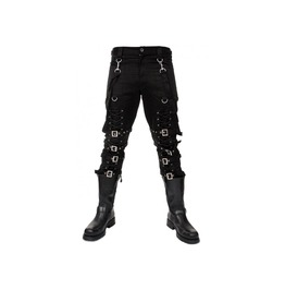 Rebelsmarket men gothic bondage pant rock hard trouser heavy weight pant for men pants 3