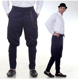 Steampunk Victorian Canvas Airship Pants