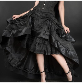 Rebelsmarket black brocade layer bustle skirt skirts 3