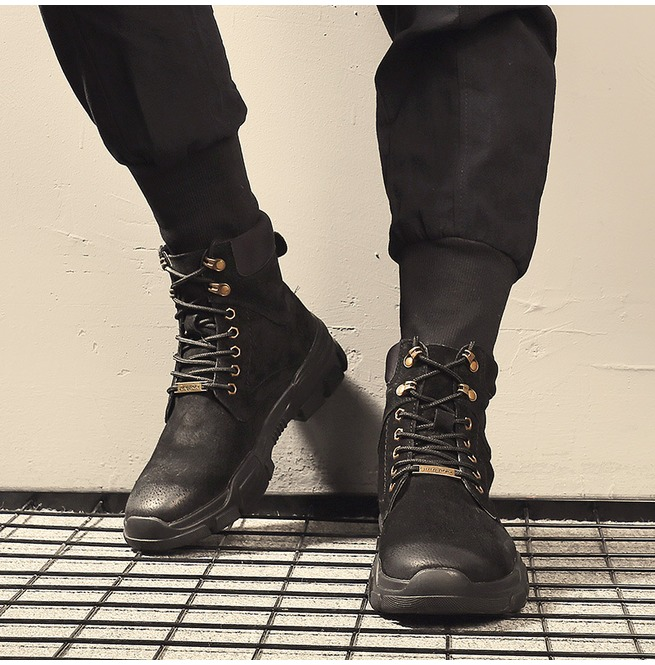 Men's Fashion Waterproof Hiking Boots Army Boots