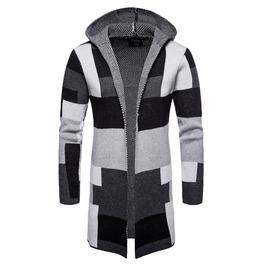 Men's Colorblock Color Mixi Knit Cardigan Sweater