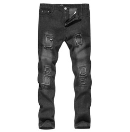 Men's Washed Cuff Slim Fitted Skinny Jeans