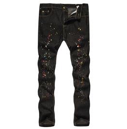 Men's Fashion Splash Ink Skinny Jeans