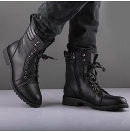 Black Handmade Napoleon Military Boots