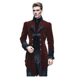 Men's Velvet Victorian Tailcoat