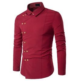 Asymmetric Long Sleeve Dress Shirt