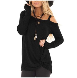 Rebelsmarket womens sexy off shoulder kinked long sleeve t shirt t shirts 9