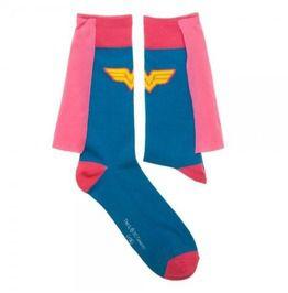 4dedf10f599 Dc Comics Wonder Woman Pink Cape Socks