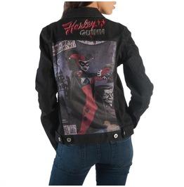 Harley Quinn Black Denim Jacket