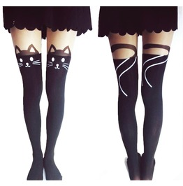 Kitty Cat Tail Tights/ Stockings/ Pantyhose