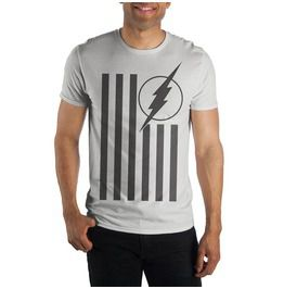 The Flash Logo Flag White T Shirt For Men