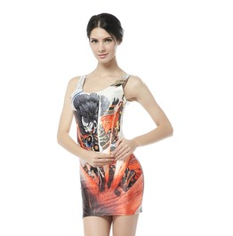Print Style Bodycon Dress Tank Tops