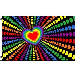 Rainbow Love Flag 5ft X 3ft