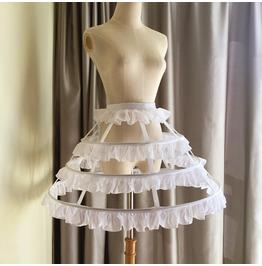 Darkforest Gothic Steel Boned Underskirt Womens Skirt