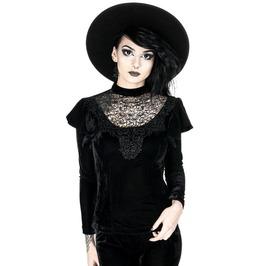 Rebelsmarket tiberio dark side guipure lace black velvet long sleeve vintage goth blouse standard tops 9