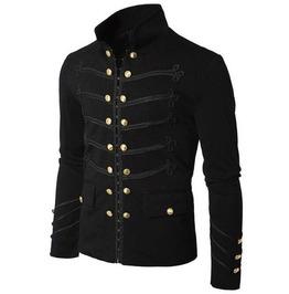 Vintage Goth Men's Slim Long Sleeve Jacket