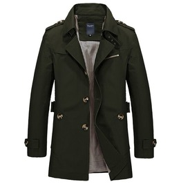 Men's Plus Size Casual Fit Trench Coat