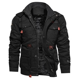 Men's Gothic Plus Size Multi Pockets Hooded Jacket