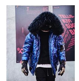 Fur Collar Hooded Coat Ladies Bomber Jacket Winter Short Parka Outwear