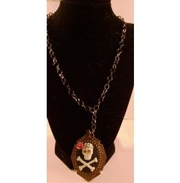 Skull Pendant Black Chain