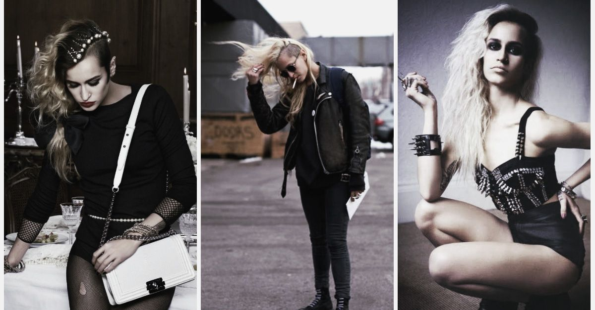 Sleazy, Grungy Punk Rock Style From Day to Night With Alice Dellal