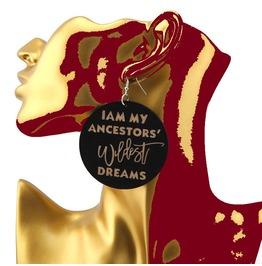 Rebelsmarket i am my ancestors wildest dreams wooden carved statement drop earrings earrings 8