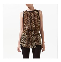 Leopard Pattern Sleeveless Fashion Top