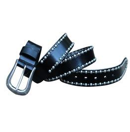 Men's Buckle Engraved Leather Belt