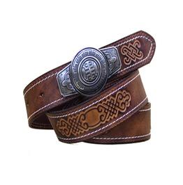 Men's Leather Embossed Belt