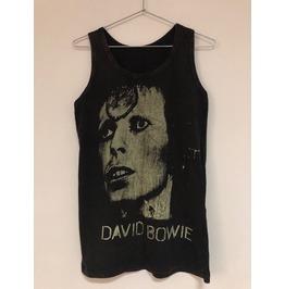 David Bowie Stone Wash Vest Tank Top M