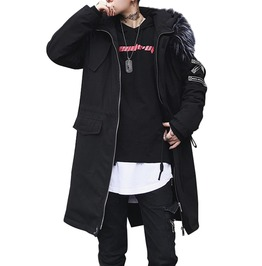 Rebelsmarket men plus size hooded trench coat  coats 11