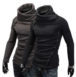 Rebelsmarket men s turtleneck thin wool slim fit sweater cardigans and sweaters 6