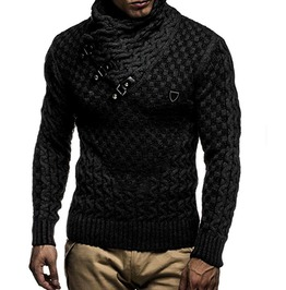 New Men\u0027s Warm Computer Knitted Slim Fit Sweater