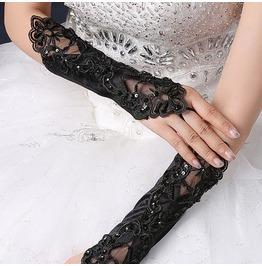 Darkforest Retro Gothic Lace Beads Patchwork Glove Womens Top